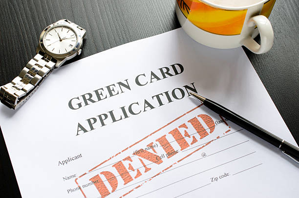 greed card application - denied greed card application - denied green card stock pictures, royalty-free photos & images