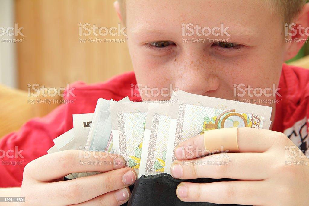greedy boy stock photo