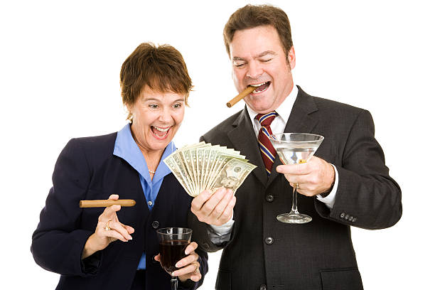 Greedy Business Partners  greed stock pictures, royalty-free photos & images