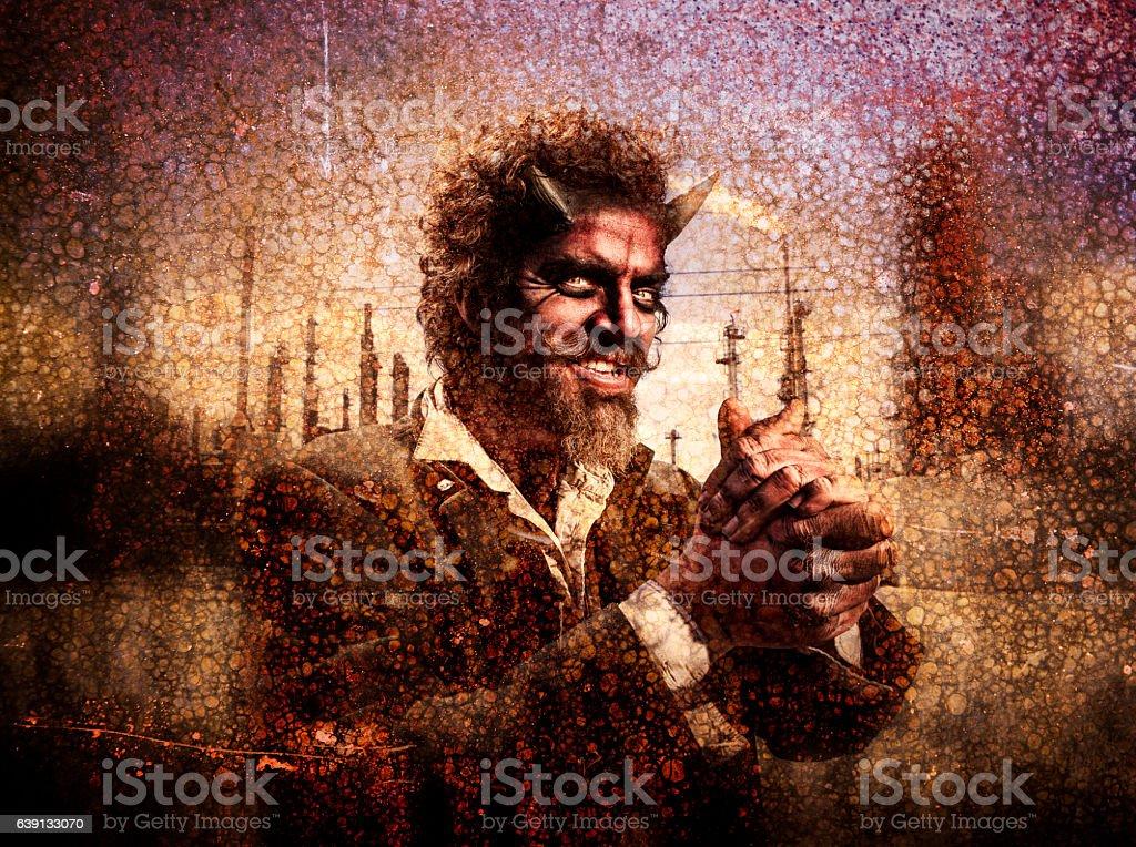Greedy Devil stock photo