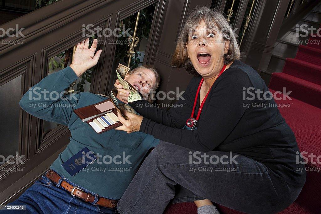 Greedy Doctor stock photo