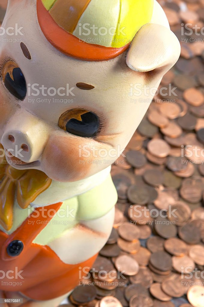 Greedy Little Piggy royalty-free stock photo