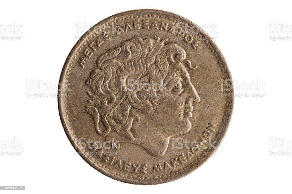 Dracmas gregas 100 moedas de Alexandre, o grande - foto de acervo