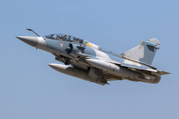 Greek Air Force Mirage 2000 fighter jet aircraft stock photo