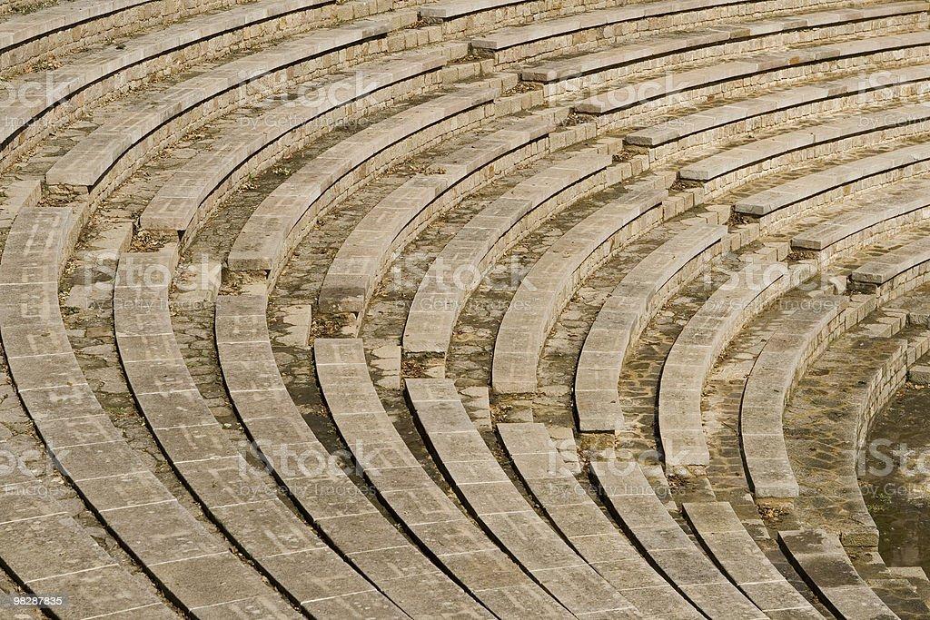 Greek amphitheater in Barcelona,Spain. royalty-free stock photo