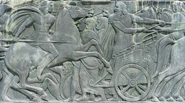 Greek ancient alike plaque at Great Alexander monument