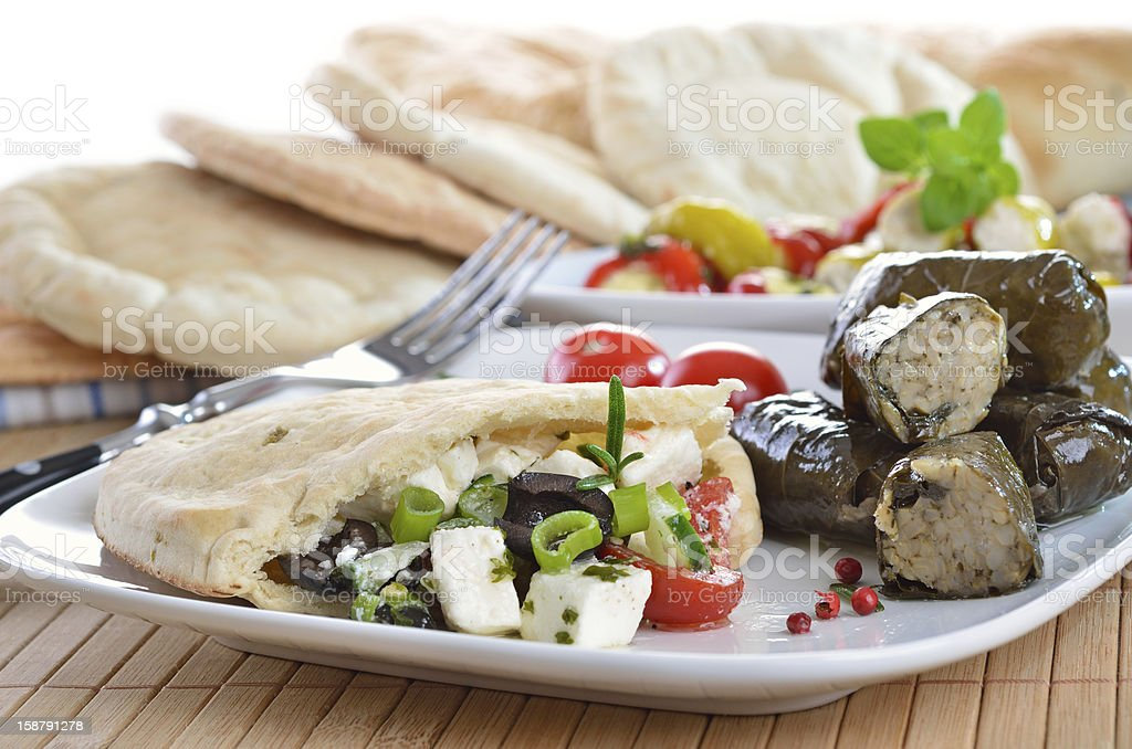 Greek appetizers royalty-free stock photo