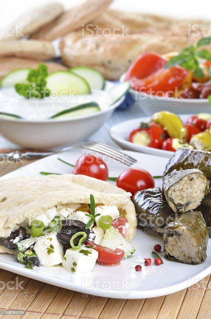 Greek appetizers royalty-free stock photo