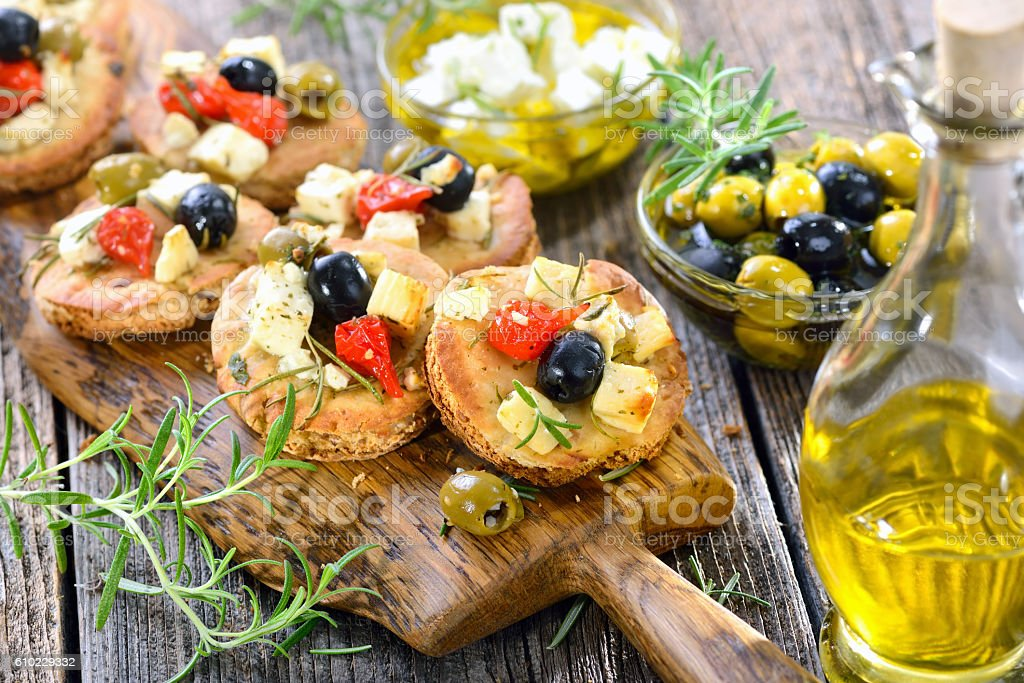 Greek appetizers stock photo