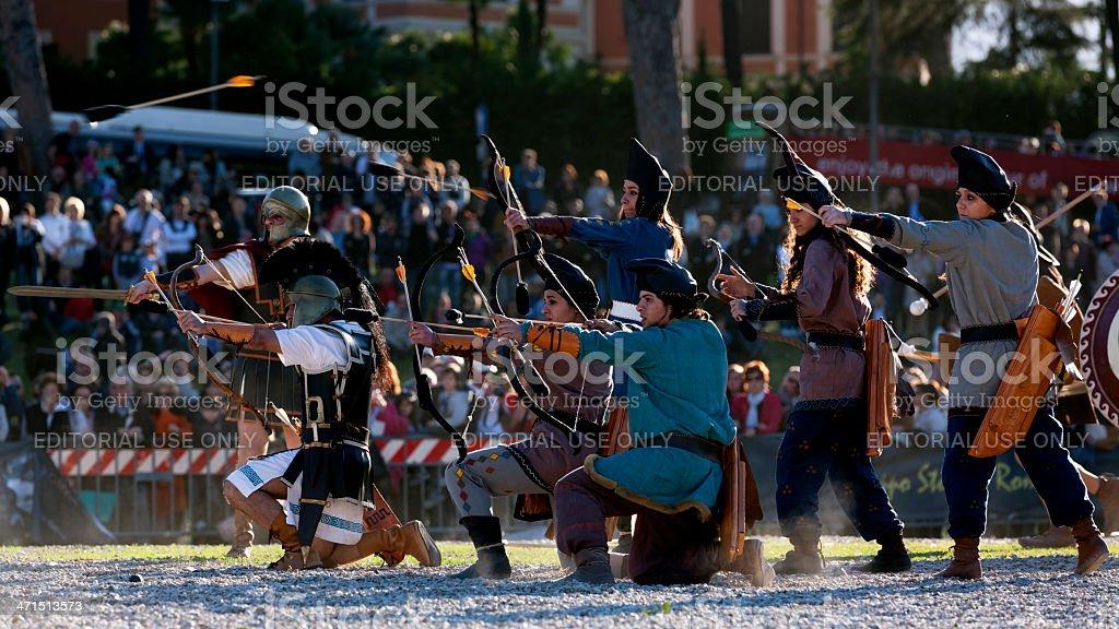 Greek Archers stock photo