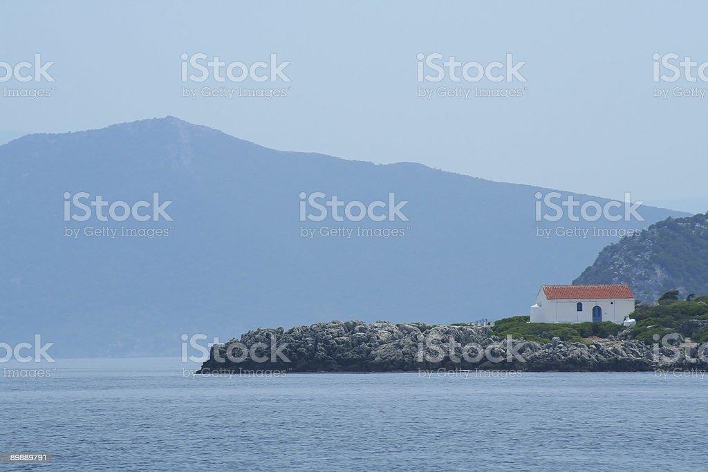 Griego a la bahía foto de stock libre de derechos