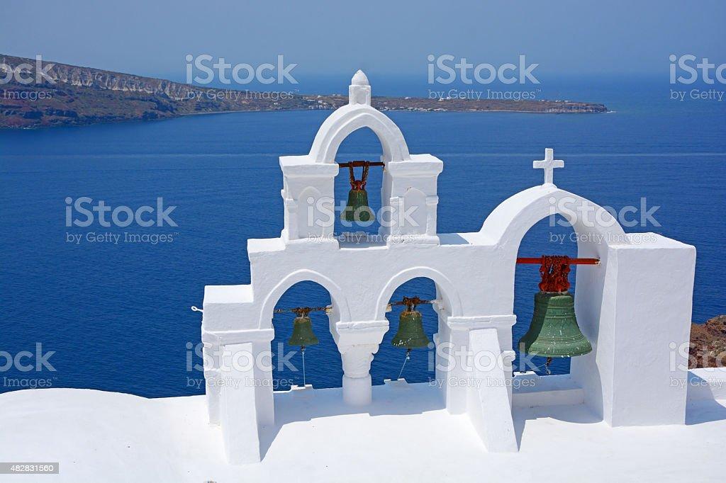 Greek belfry stock photo