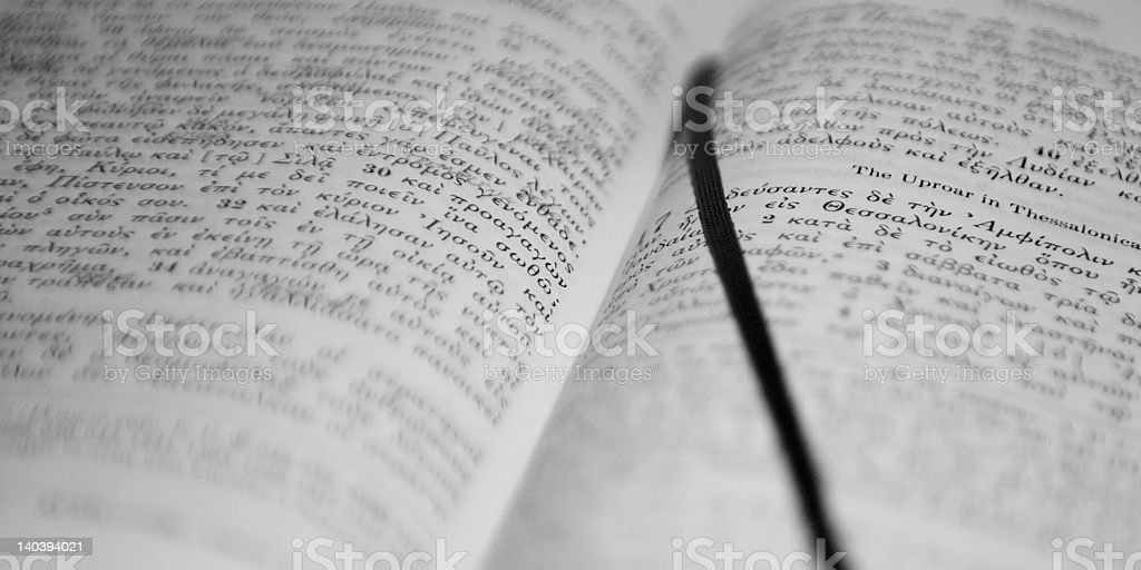 Greek Bible Stock Photo & More Pictures of Aging Process