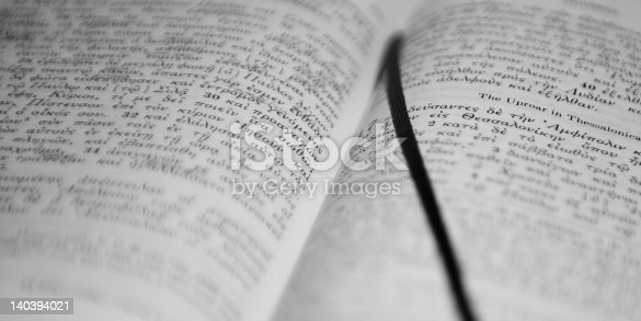 istock Greek Bible (Novum Testamentum Graece) 140394021