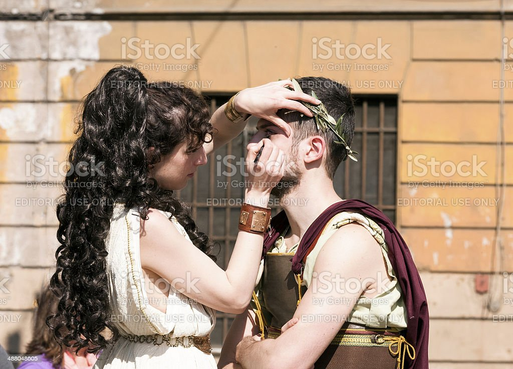 Greek Boy and Girl royalty-free stock photo