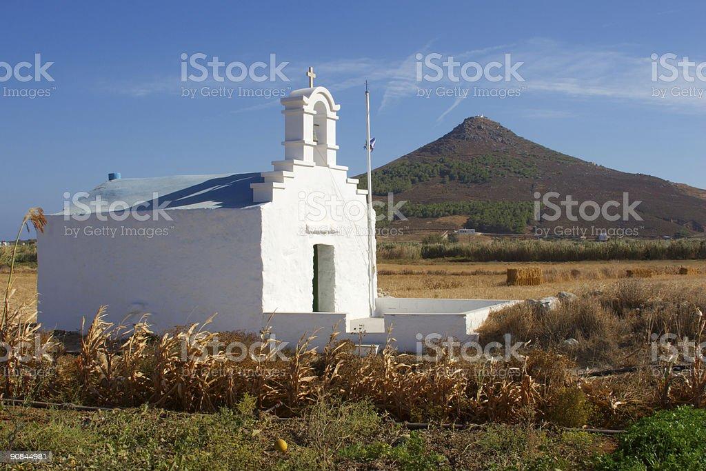 Greek Chapel royalty-free stock photo