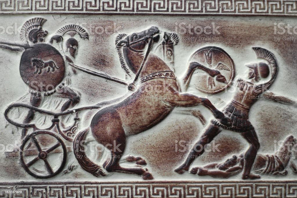 Greek Chariot stock photo