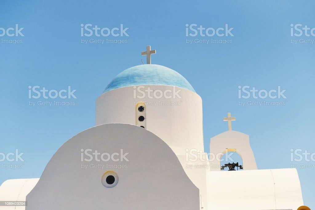 Greek Church Dome Close Up stock photo