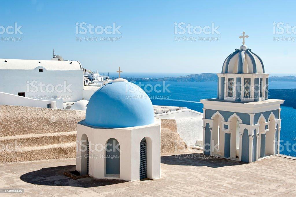 Greek Church Dome royalty-free stock photo
