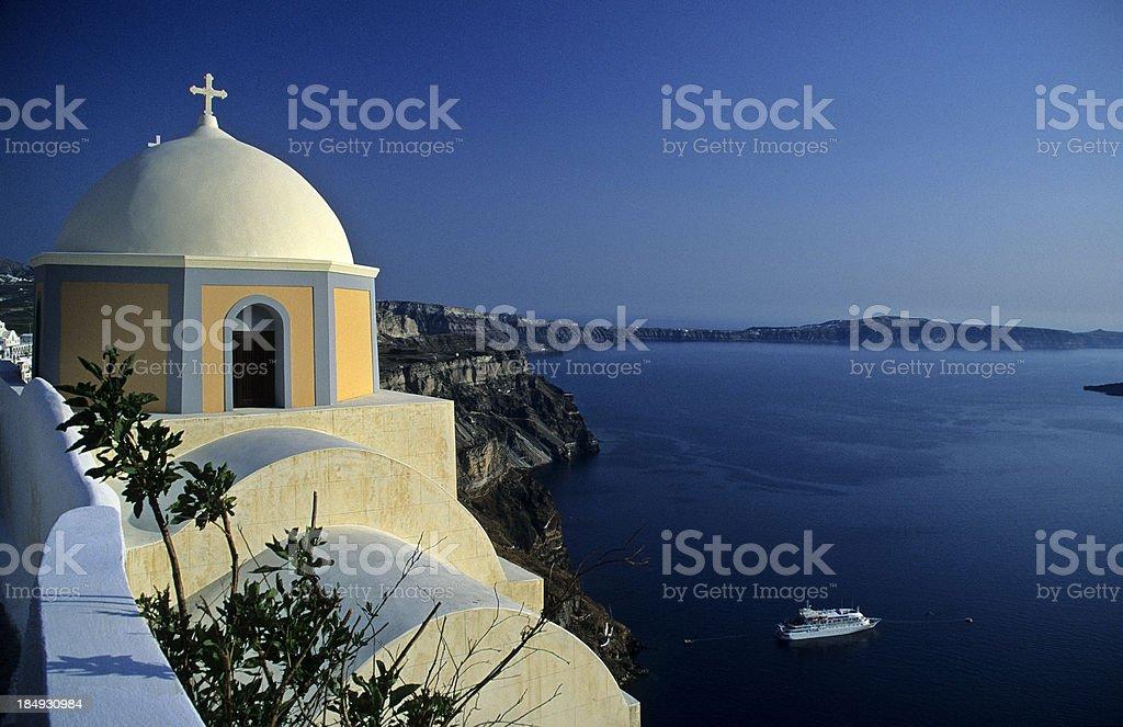 Greek Church, Santorini royalty-free stock photo
