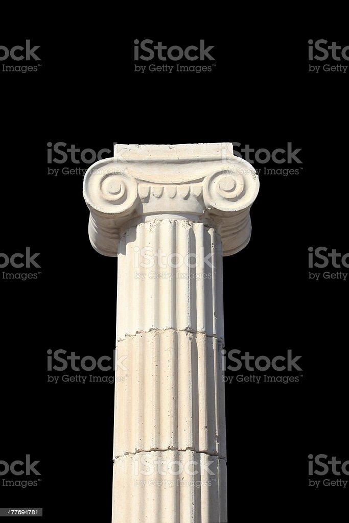 Greek column on black royalty-free stock photo
