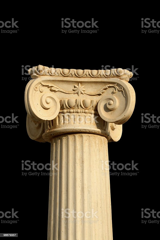 Greek Column on black royalty-free stock photo