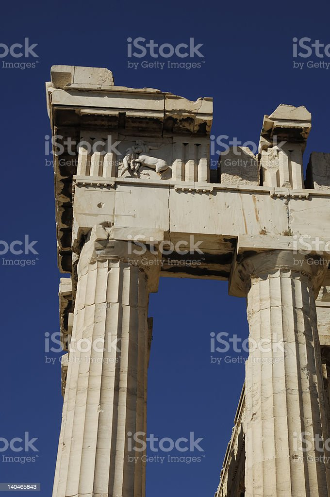 Greek column royalty-free stock photo