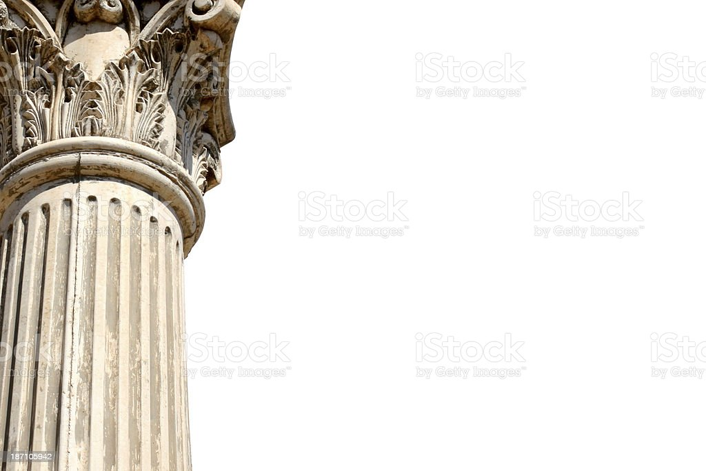 Greek column with copyspace royalty-free stock photo