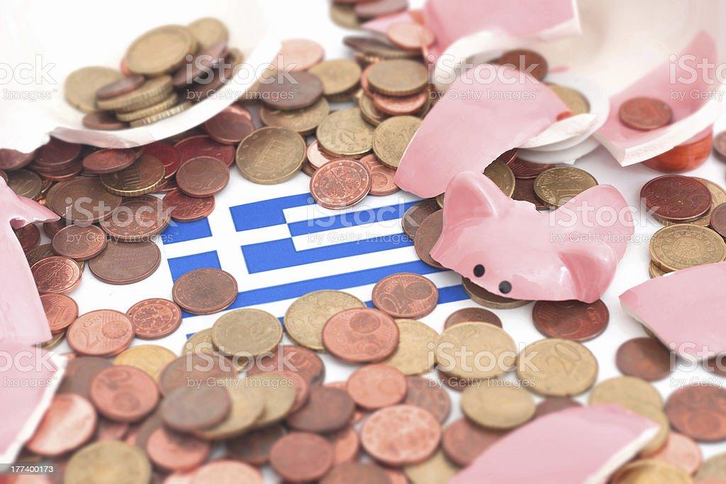 greek crisis royalty-free stock photo