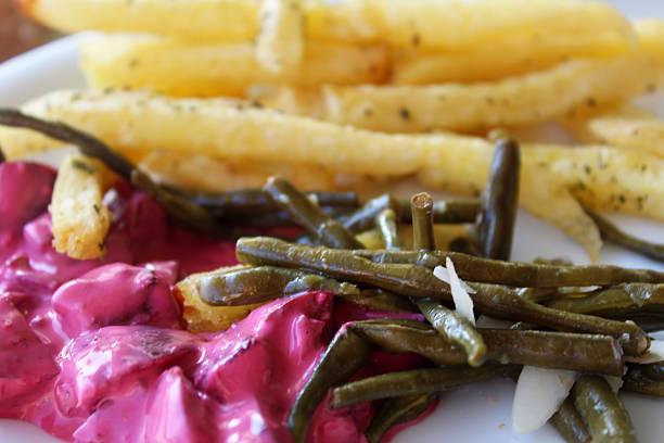 greek delicacies - taramosalata stock-fotos und bilder
