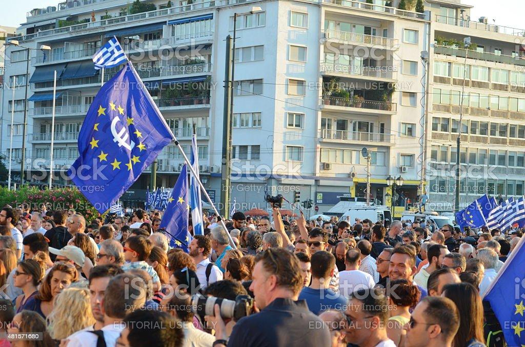 Greek Demonstrators stock photo