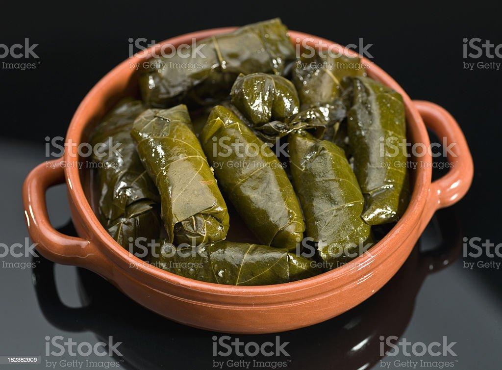greek dolmades stock photo