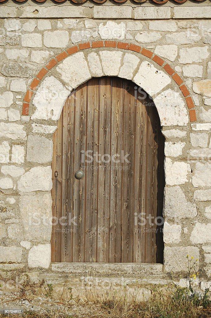 Greek Door royalty-free stock photo