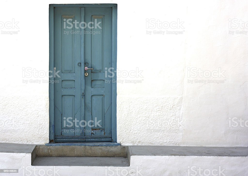 Greek door royalty-free stock photo