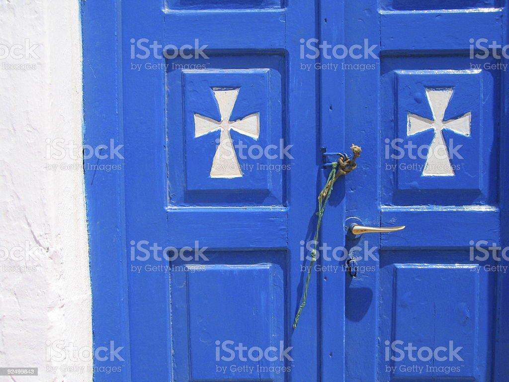 greek doorway royalty-free stock photo