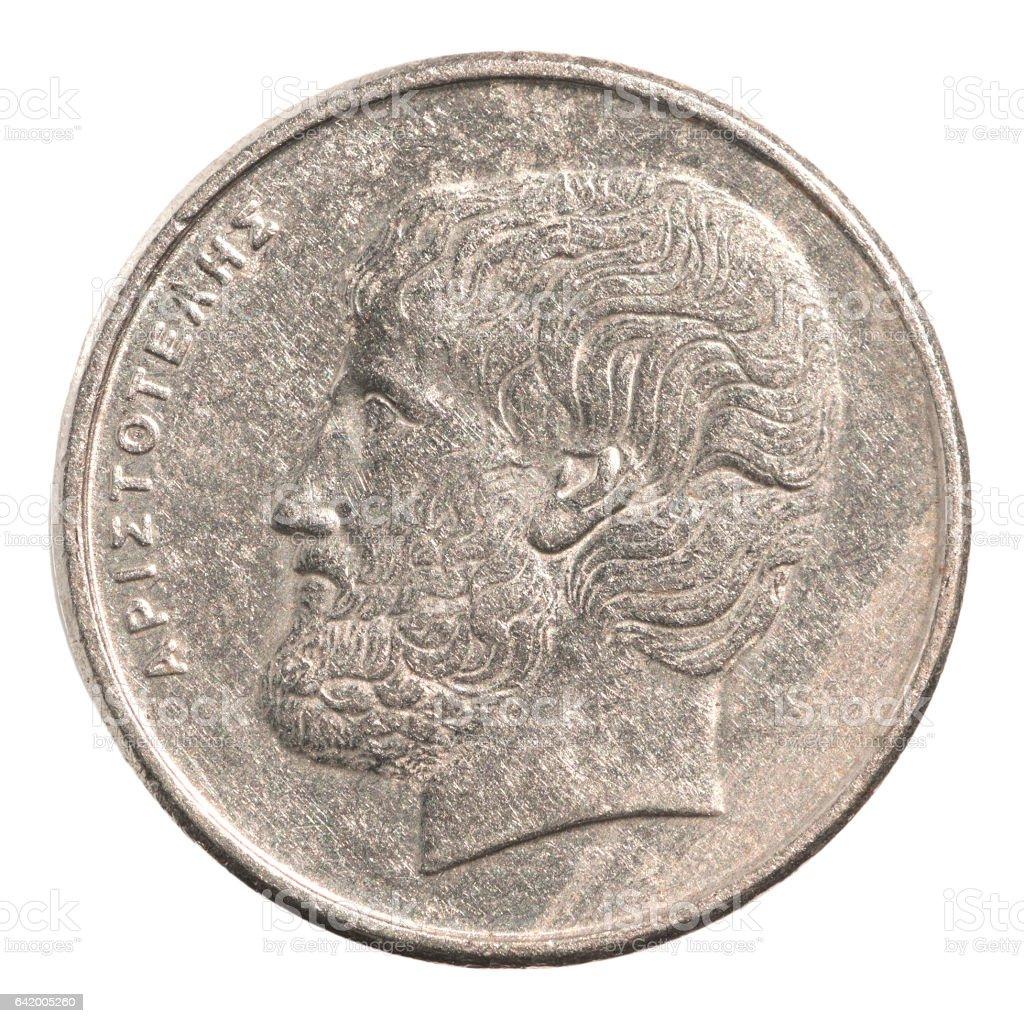 Griechische Drachmen-Münze – Foto