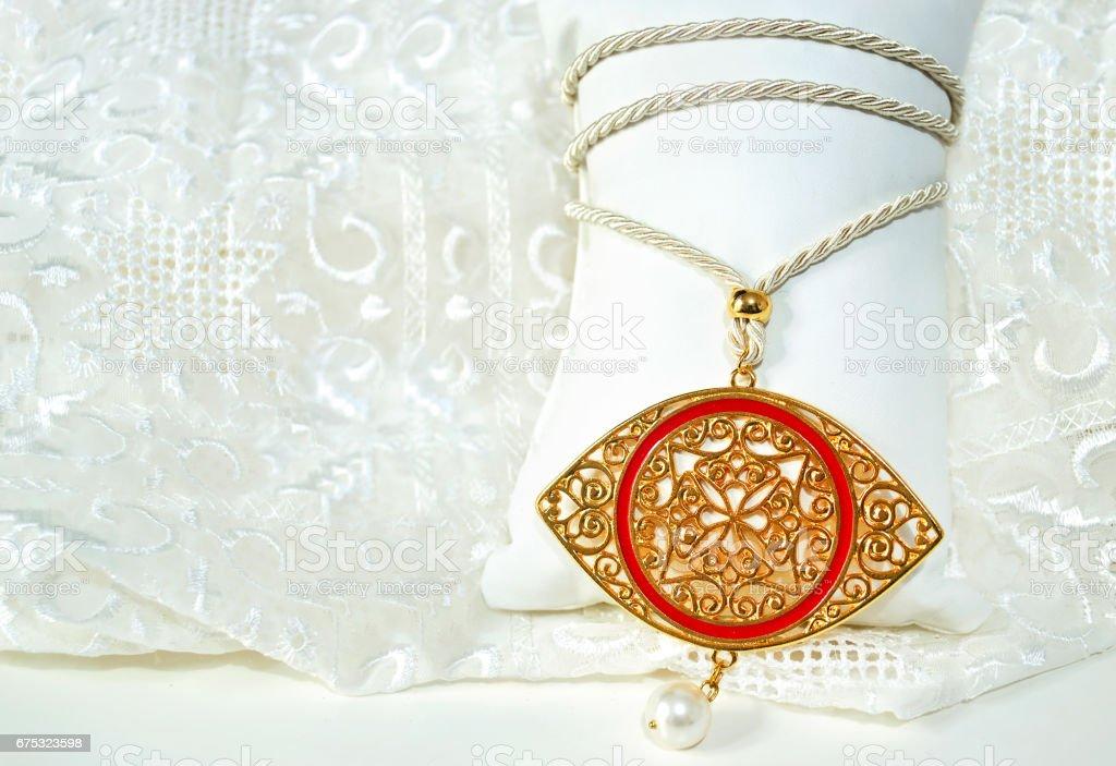 Greek Evil Eye Necklace Byzantine Jewelry Stock Photo - Download