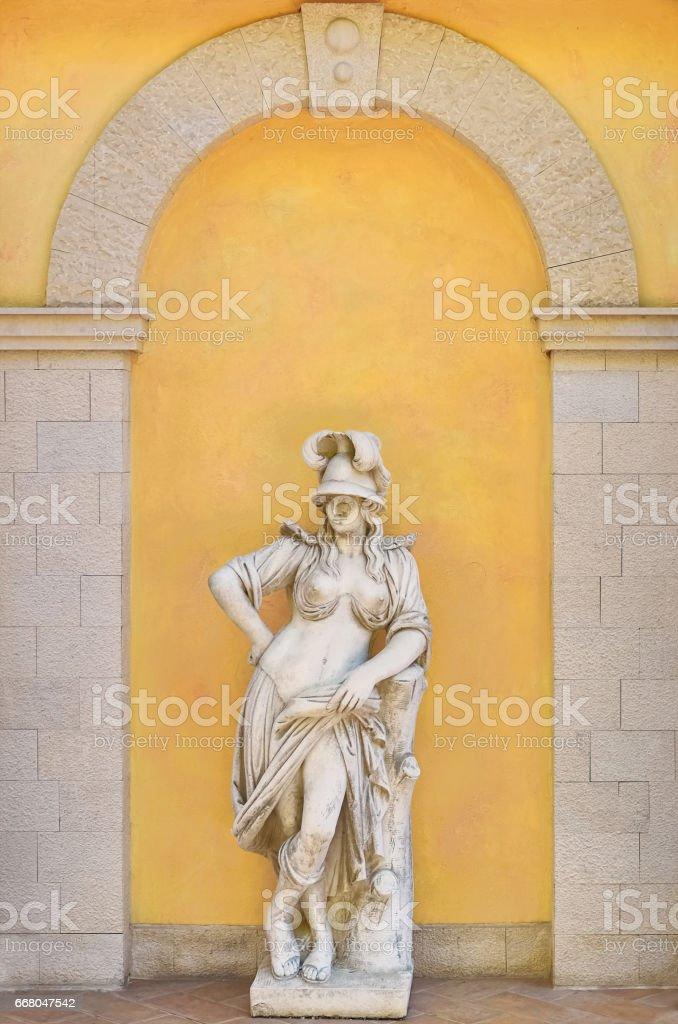 Greek Female Statue stock photo