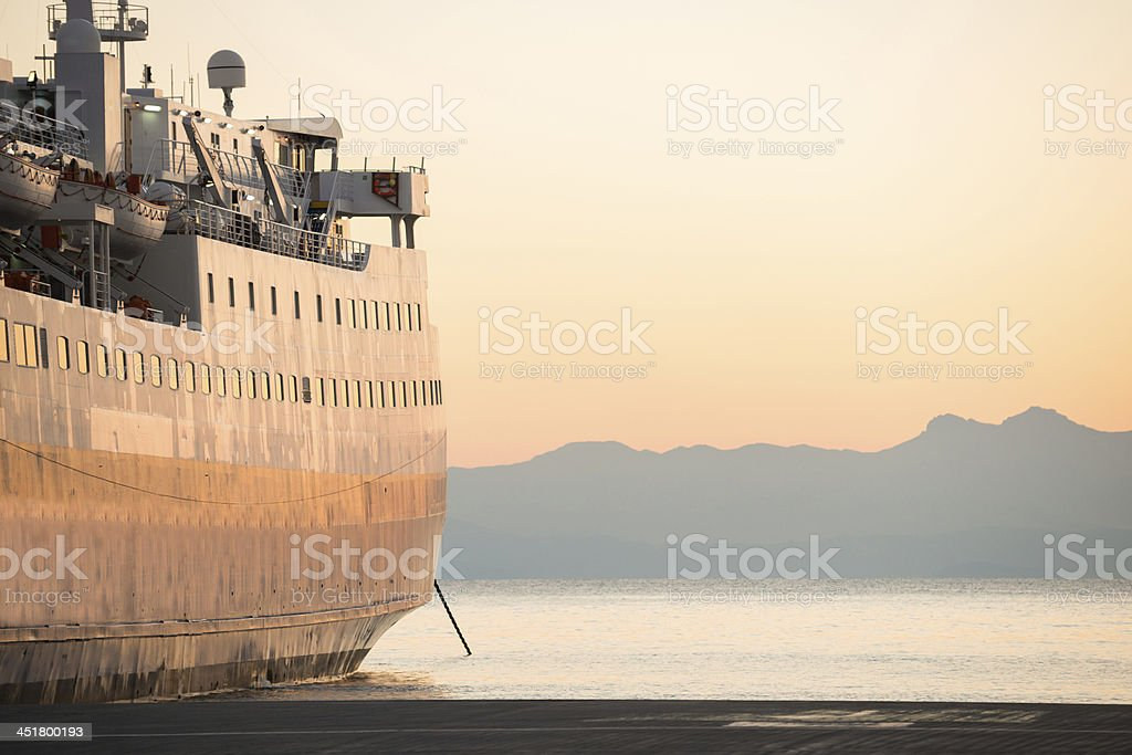 Greek Ferry royalty-free stock photo