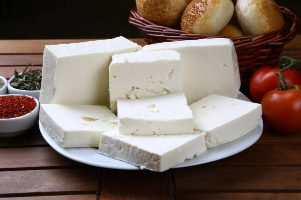Greek feta cheese block Cheese, Feta Cheese, Curd Cheese, Dairy Product, White Color feta cheese stock pictures, royalty-free photos & images