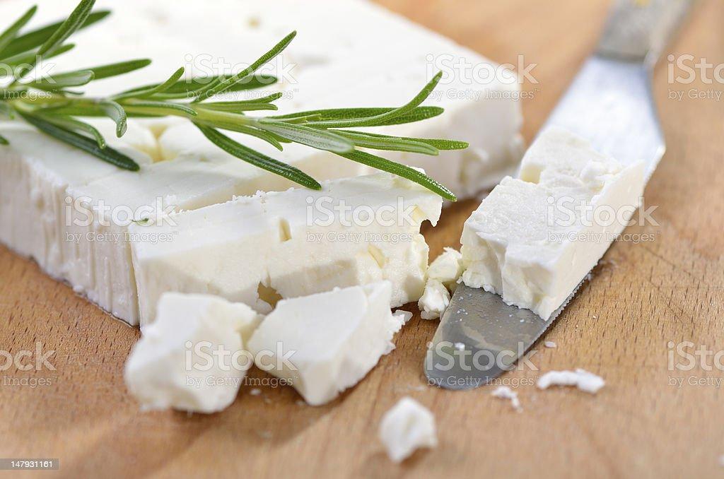 Greek feta cheese stock photo