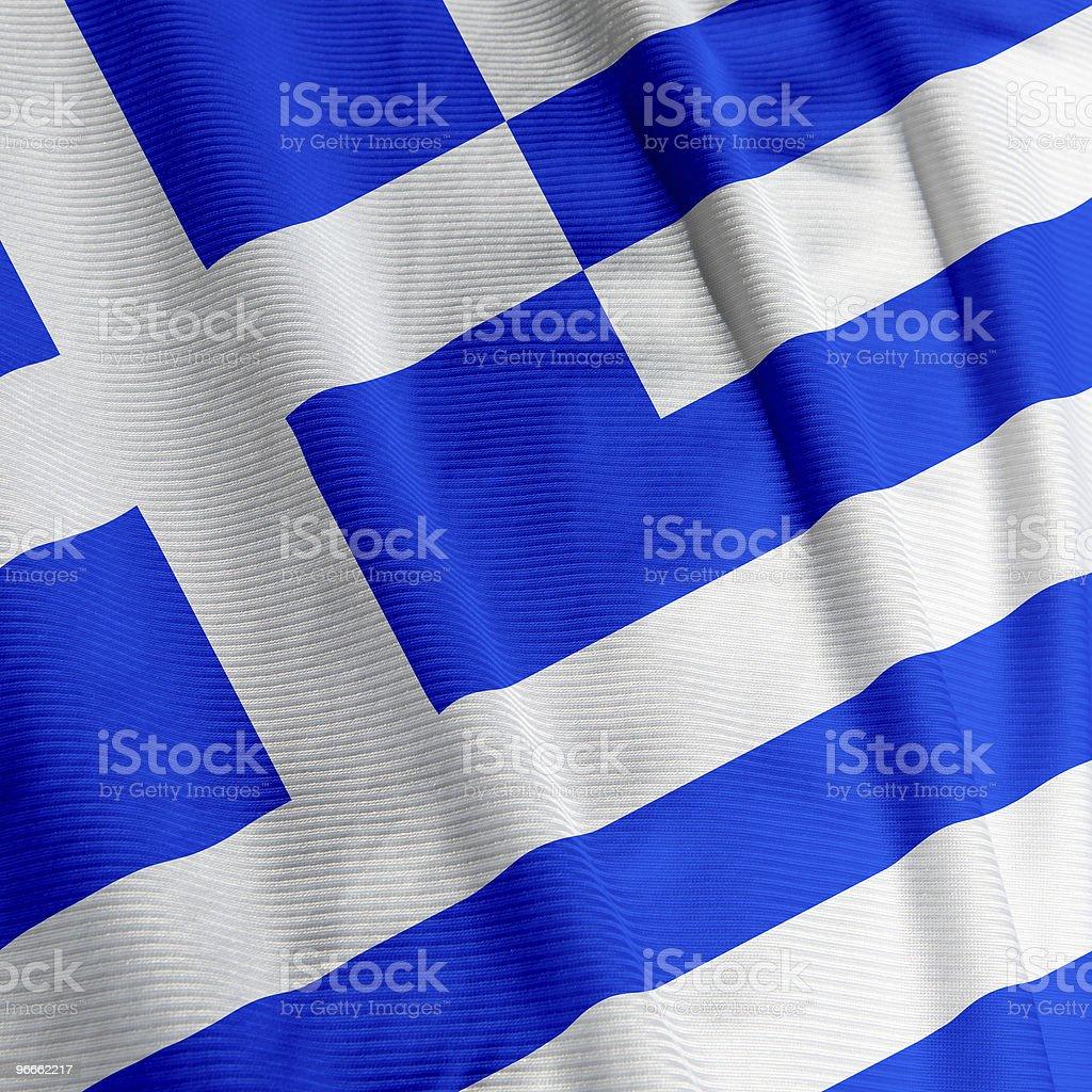 Greek Flag Closeup royalty-free stock photo