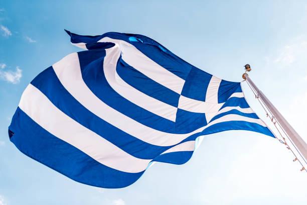 Griechische Flagge – Foto