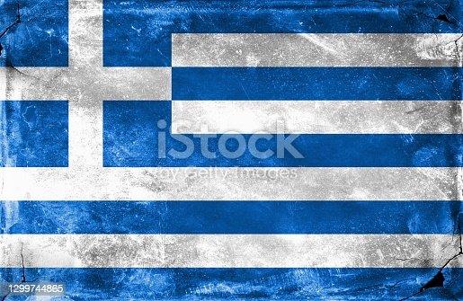 istock Greek Flag 1299744865