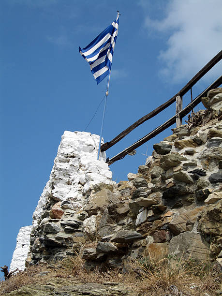 greek flag - alintal stock pictures, royalty-free photos & images