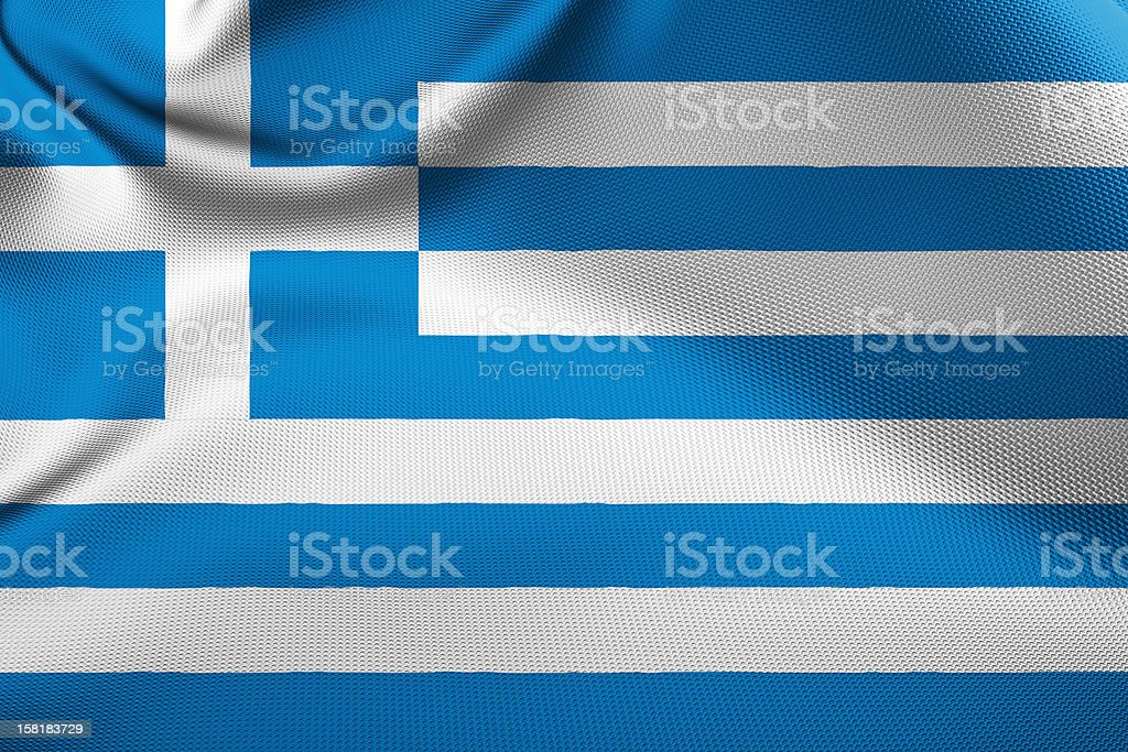 Greek Flag royalty-free stock photo