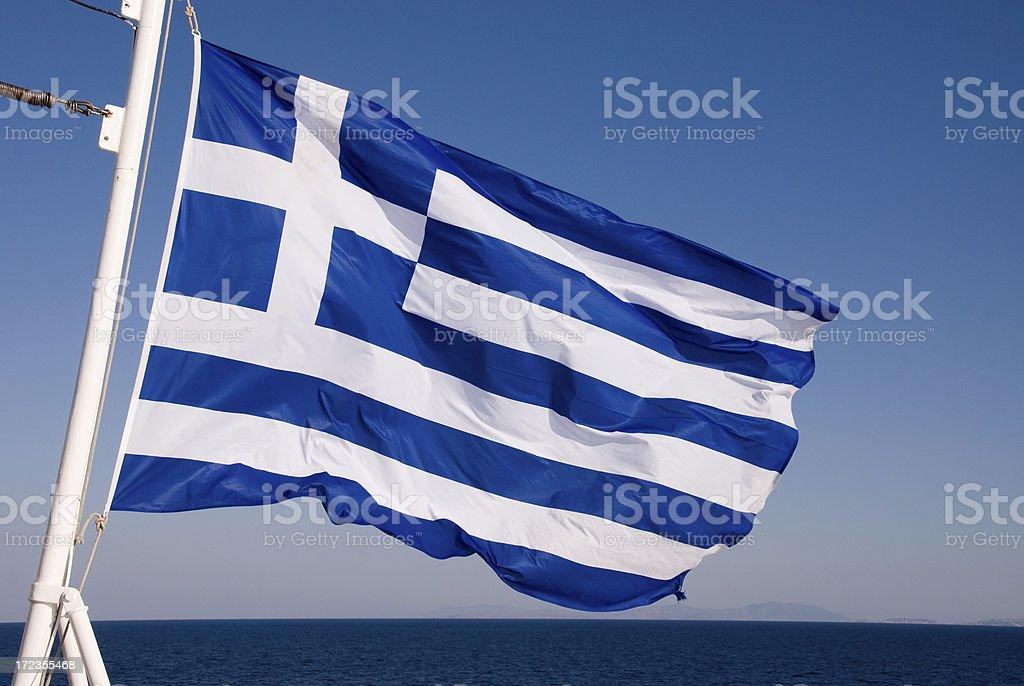 Greek Flag royalty-free stock photo