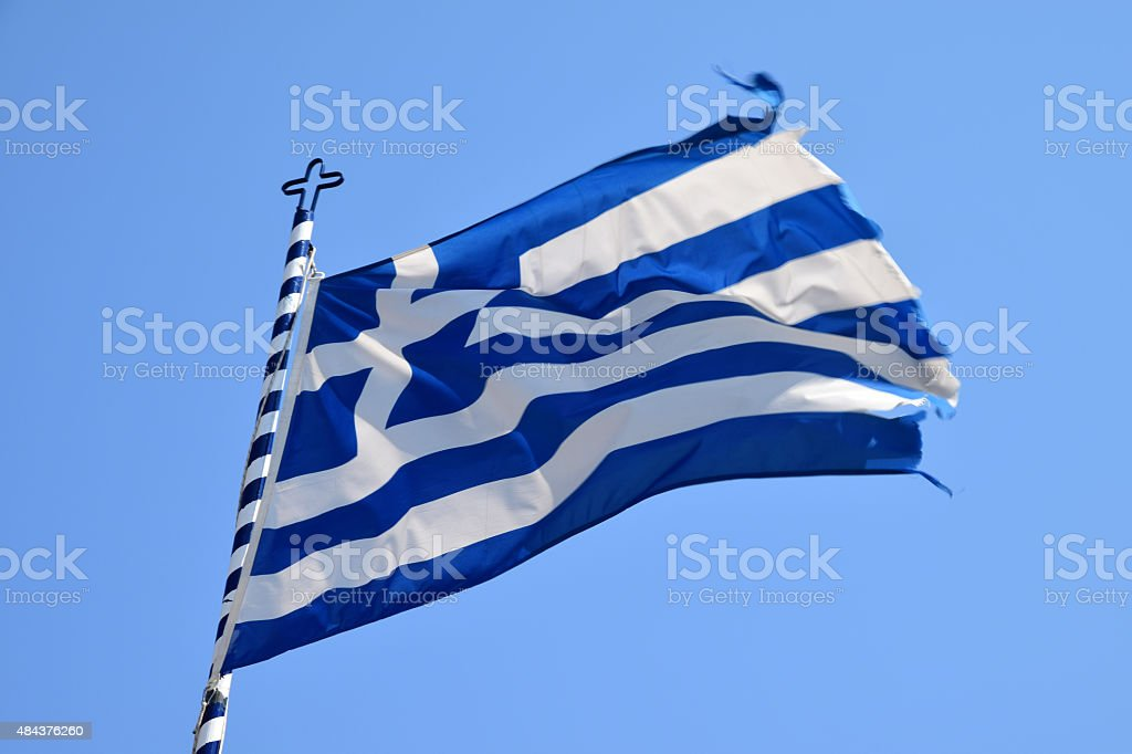 Bandera griega - foto de stock