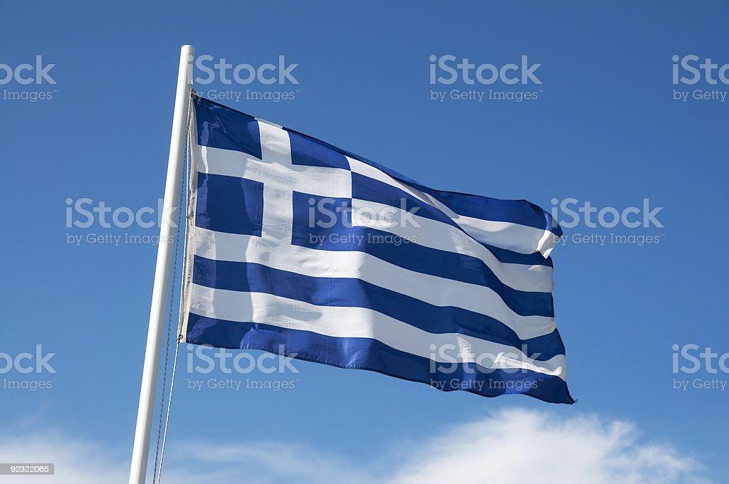 Greek flag stock photo