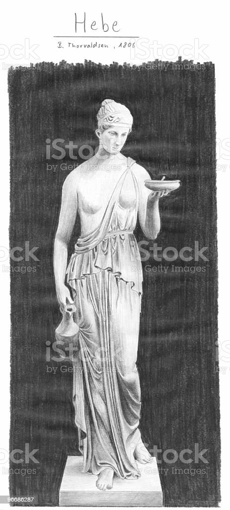 Greek Goddess Hebe royalty-free stock photo